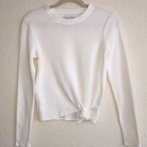 Texture & Thread Tied Front Top by Madewell. S